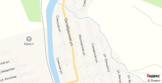 Московская улица в Аше с номерами домов на карте. Спутник и схема онлайн