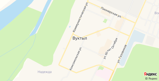 Карта территории сот Метан в Вуктыле с улицами, домами и почтовыми отделениями со спутника онлайн