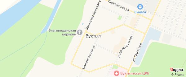 Садовое товарищество Автомобилист на карте Вуктыла с номерами домов