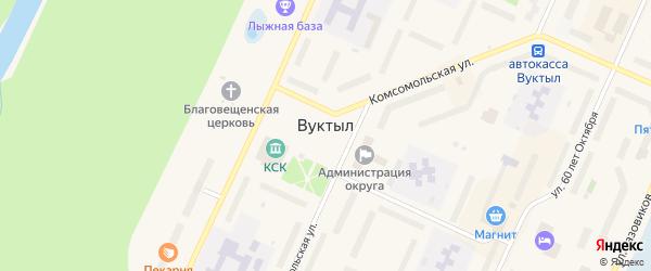 Улица Дюбанова на карте Вуктыла с номерами домов