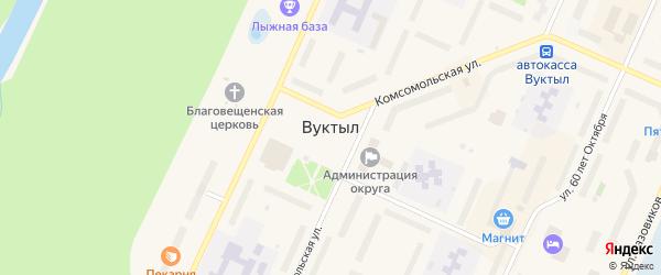 Улица Промбаза на карте Вуктыла с номерами домов