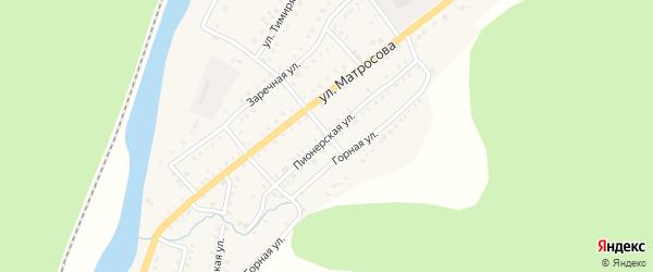 Пионерская улица на карте Аши с номерами домов