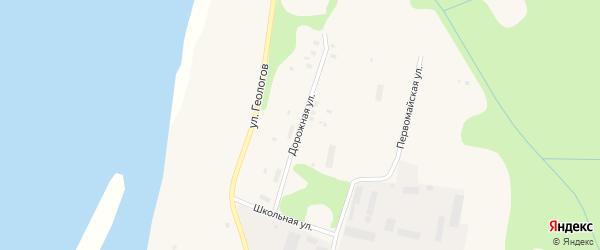 Дорожная улица на карте Вуктыла с номерами домов