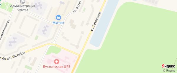 Улица Газовиков на карте Вуктыла с номерами домов
