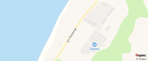 Улица Геологов на карте Вуктыла с номерами домов