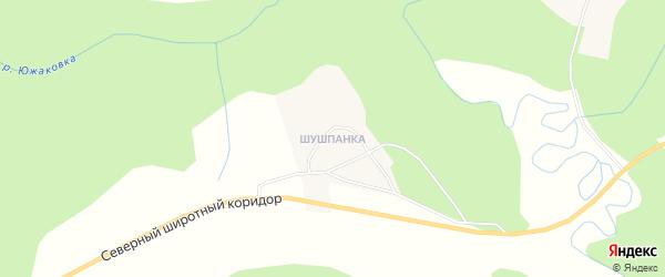 Карта деревни Шушпанки города Чусового в Пермском крае с улицами и номерами домов