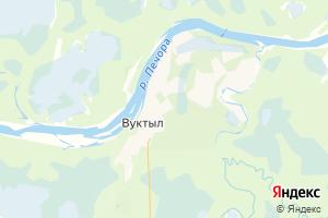 Карта г. Вуктыл