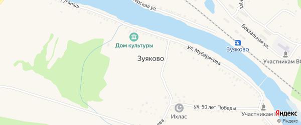 Инзерская улица на карте села Зуяково с номерами домов