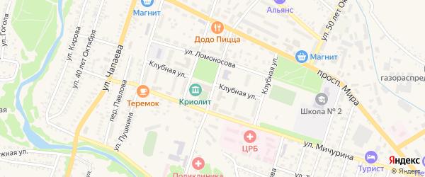 Фестивальная улица на карте Кувандыка с номерами домов
