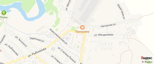 Школьная улица на карте Кувандыка с номерами домов