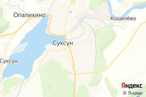 Карта пос. Суксун Пермский край