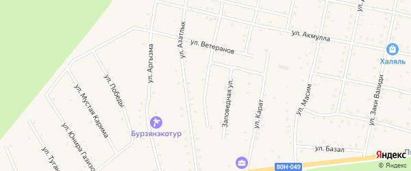 Улица Газиза Давлетбердина на карте села Старосубхангулово Башкортостана с номерами домов