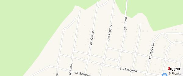 Улица Юкале на карте села Старосубхангулово Башкортостана с номерами домов