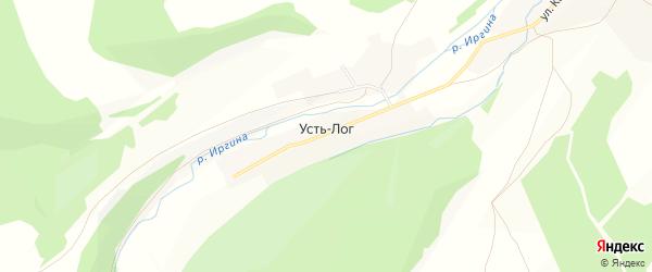 Карта деревни Усть-Лога в Пермском крае с улицами и номерами домов