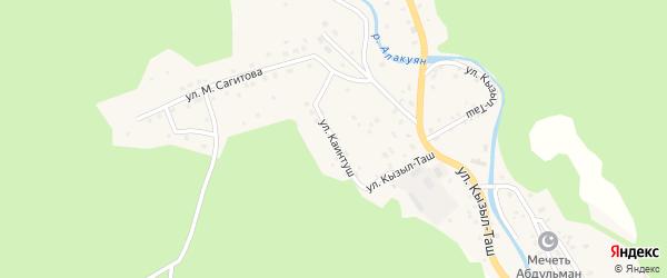 Улица Каинтуш на карте села Старосубхангулово Башкортостана с номерами домов