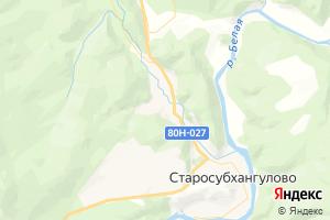 Карта с. Старосубхангулово Республика Башкортостан
