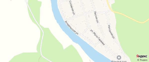 Агидельская улица на карте деревни Ишдавлетово Башкортостана с номерами домов