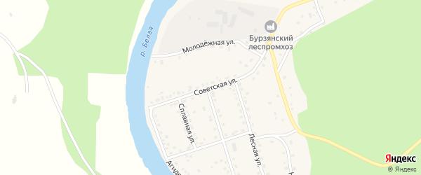 Советская улица на карте села Старосубхангулово Башкортостана с номерами домов