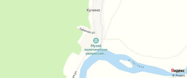 Карта деревни Кучино города Чусового в Пермском крае с улицами и номерами домов