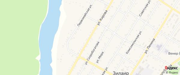 Улица Кирова на карте села Зилаир Башкортостана с номерами домов