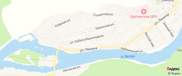 Улица Х.Ишкильдина на карте села Старосубхангулово Башкортостана с номерами домов