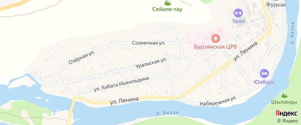 Уральская улица на карте села Старосубхангулово Башкортостана с номерами домов