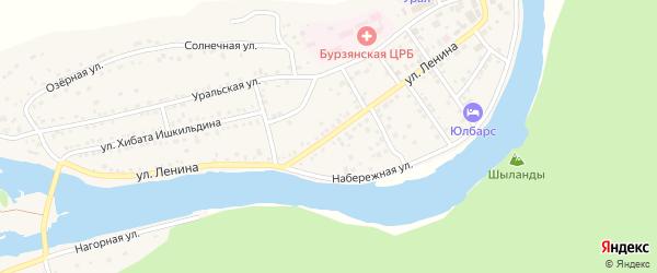 Улица Ленина на карте села Старосубхангулово Башкортостана с номерами домов