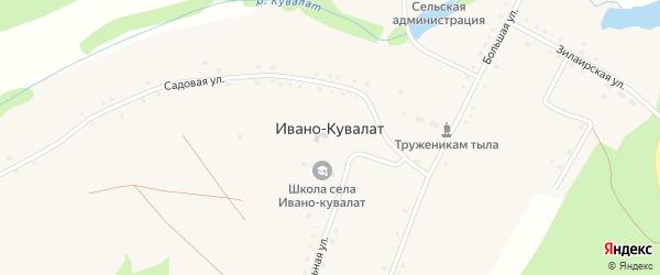 Промышленная улица на карте села Ивано-Кувалата Башкортостана с номерами домов