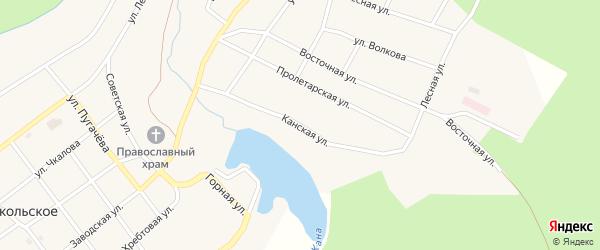 Канская улица на карте Кананикольского села с номерами домов