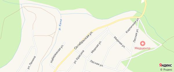Октябрьская улица на карте Кананикольского села с номерами домов
