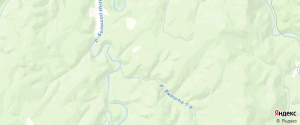 Карта Инзерского сельсовета Республики Башкортостана с районами, улицами и номерами домов