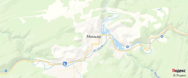 Карта Миньяра с районами, улицами и номерами домов