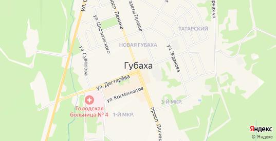 СТ Росинка на карте Губахи с номерами домов