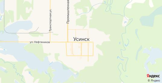 Карта Усинска с улицами и домами подробная. Показать со спутника номера домов онлайн