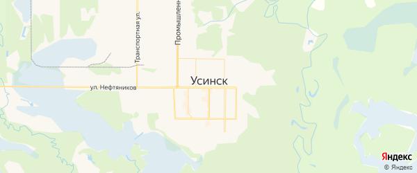 Карта Усинска с районами, улицами и номерами домов: Усинск на карте России