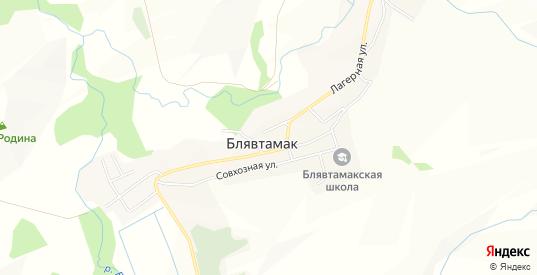 Карта поселка Блявтамак в Медногорске с улицами, домами и почтовыми отделениями со спутника онлайн
