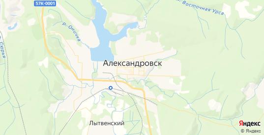 Карта Александровска с улицами и домами подробная. Показать со спутника номера домов онлайн