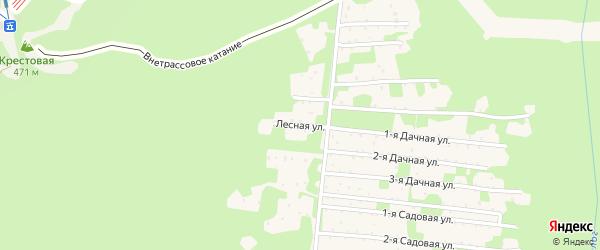 1 Лесная улица на карте садового некоммерческого товарищества Медика с номерами домов
