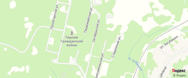 Октябрьская улица на карте Губахи с номерами домов