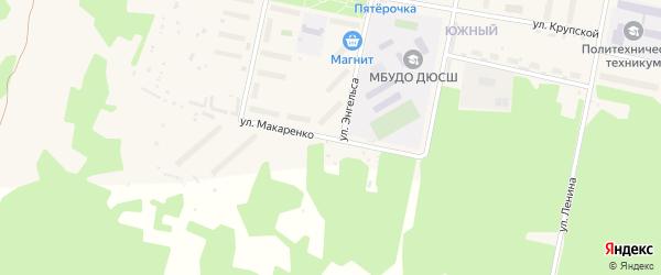 Улица Макаренко на карте Кизела с номерами домов