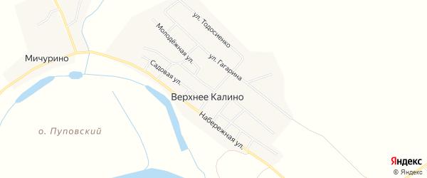 Карта поселка Калино города Чусового в Пермском крае с улицами и номерами домов
