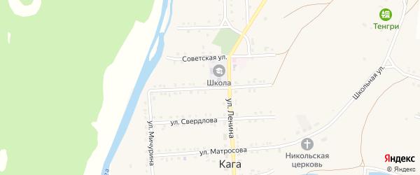 Улица 50 лет Победы на карте села Каги Башкортостана с номерами домов