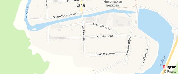 Улица Чапаева на карте села Каги Башкортостана с номерами домов
