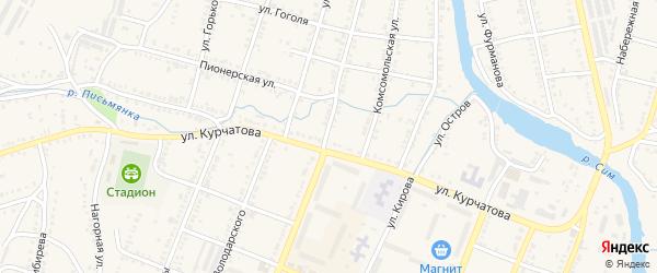 Улица Революции на карте Сима с номерами домов