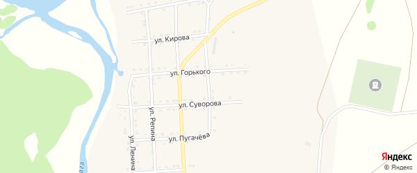 Улица Некрасова на карте села Каги с номерами домов