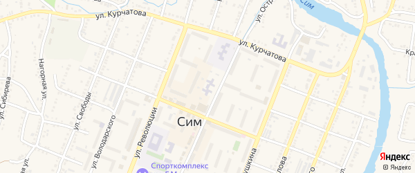 Сад СНТ 4 на карте Сима с номерами домов