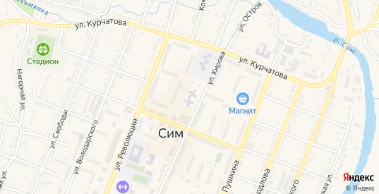 Сад СНТ 7 в Симе с номерами домов на карте. Спутник и схема онлайн