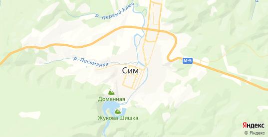 Карта Сима с улицами и домами подробная. Показать со спутника номера домов онлайн