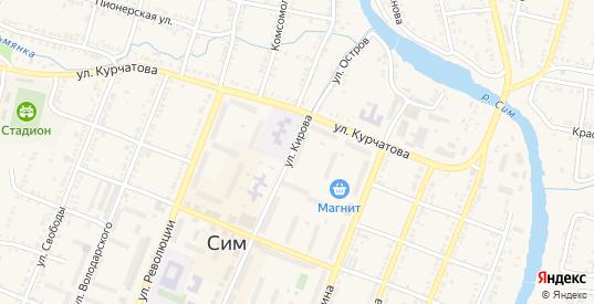 ГК 89 Железнодорожная территория в Симе с номерами домов на карте. Спутник и схема онлайн