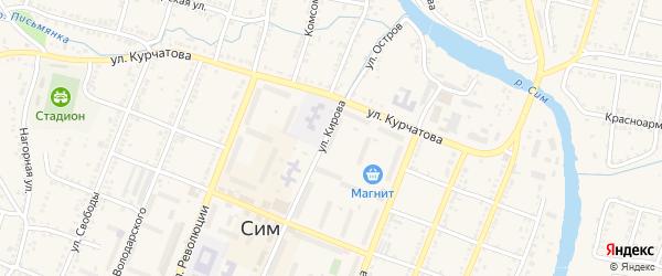 Улица Гагарина на карте Сима с номерами домов